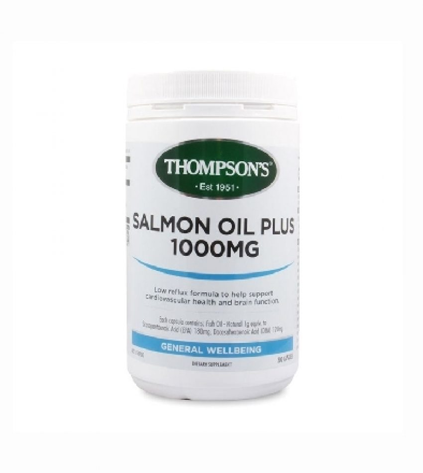 Thompson's汤普森 深海三文鱼油1000mg 300粒 Thompson's Salmon Oil Plus 1000mg 300Cap