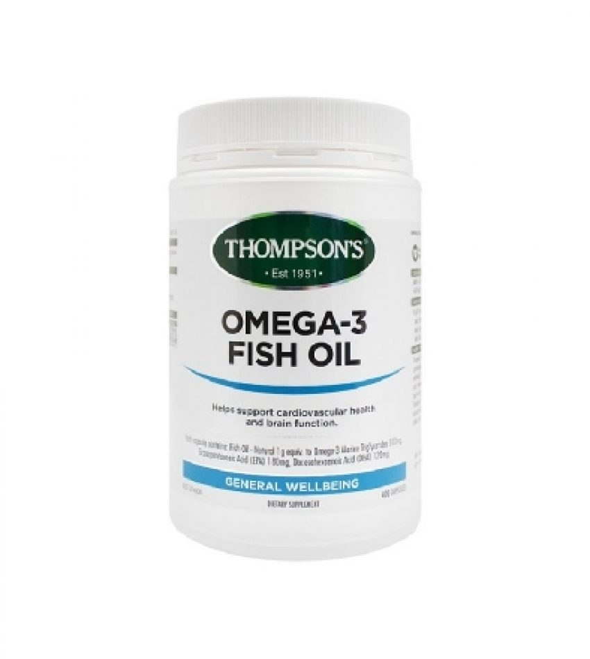Thompson's汤普森 深海鱼油 1000mg 400粒 Thompson's Omega-3 Fish Oil 1000mg 400Cap