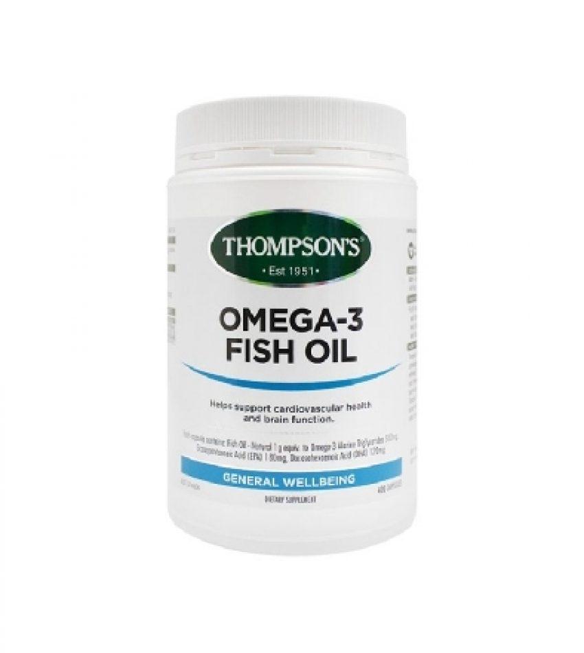 Thompson's汤普森 深海鱼油 1000mg 400粒 Thompson's Omega-3 Fish Oil 1000mg 400Cap