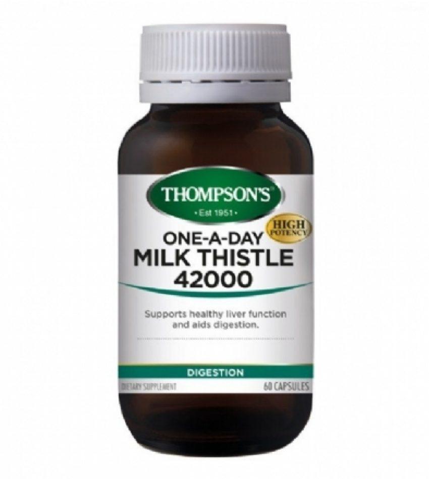 Thompson's汤普森 奶蓟草护肝 60粒 全新高含量版 Thompson's Milk Thistle 42000 60Cap
