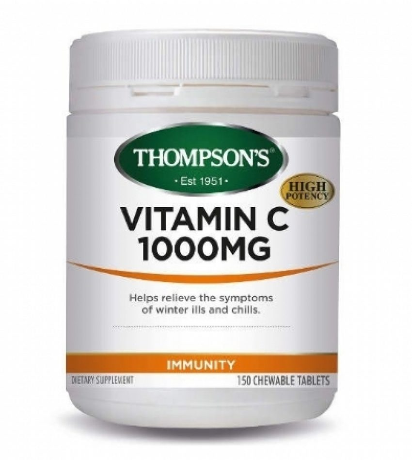 Thompson's汤普森 维生素C 1000mg 150片 Thompson's Vitamin C 1000mg 150Tab (22年初到期)