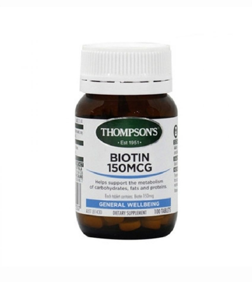 Thompson's汤普森高浓度生物素 生发素100片  Thompson's Biotin 150mg 100Tab