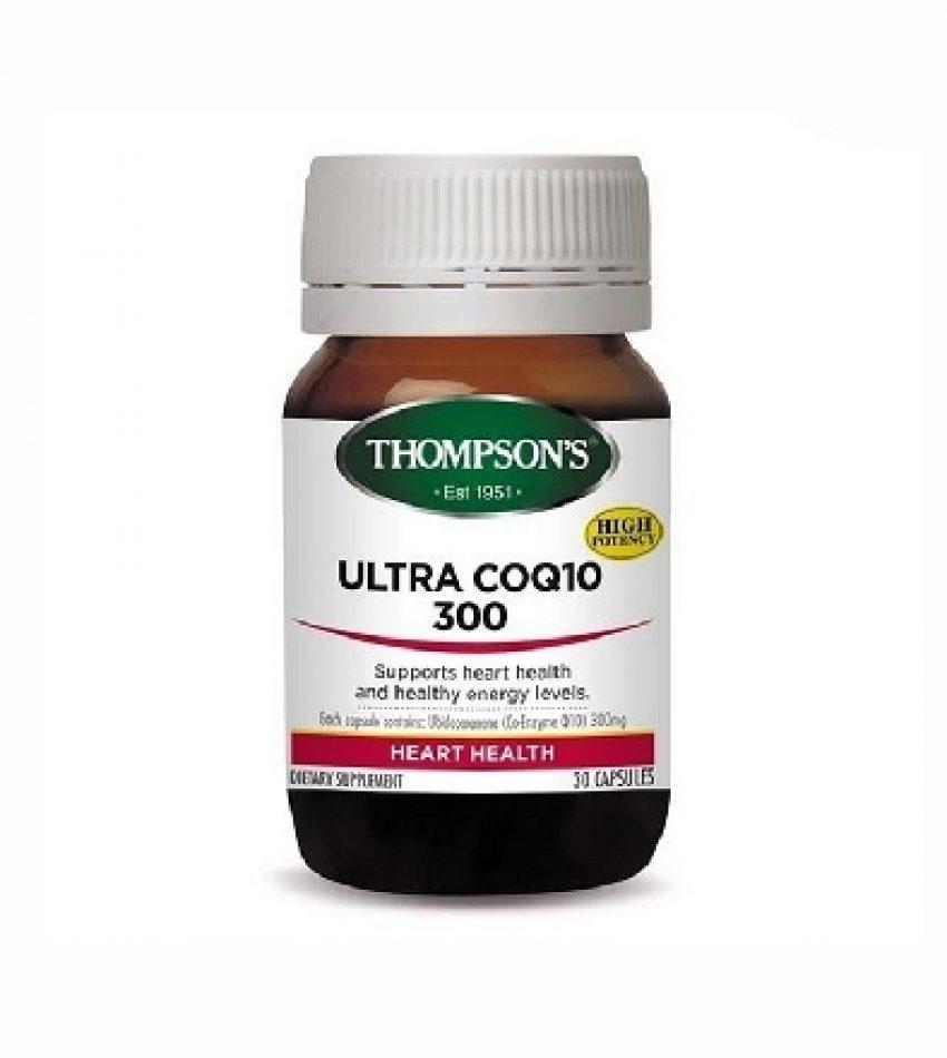 Thompson's汤普森 辅酶CQ10 300mg 30粒 Thompson's Ultra CoQ10 300mg 30Cap
