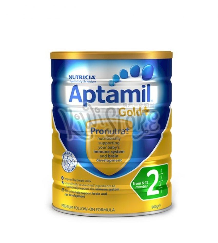 【包邮】Aptamil爱他美 金装婴儿奶粉900克*6罐 2段(6-12个月) Nutricia Aptamil Gold+ 2 From 6-12months(22年12月到期)