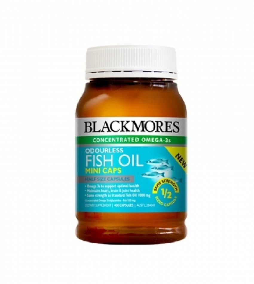 Blackmores澳佳宝 无腥味深海鱼油小颗粒 1000mg 400粒 Blackmores Odourless Fish Oil Mini Caps half size 1000 400Cap
