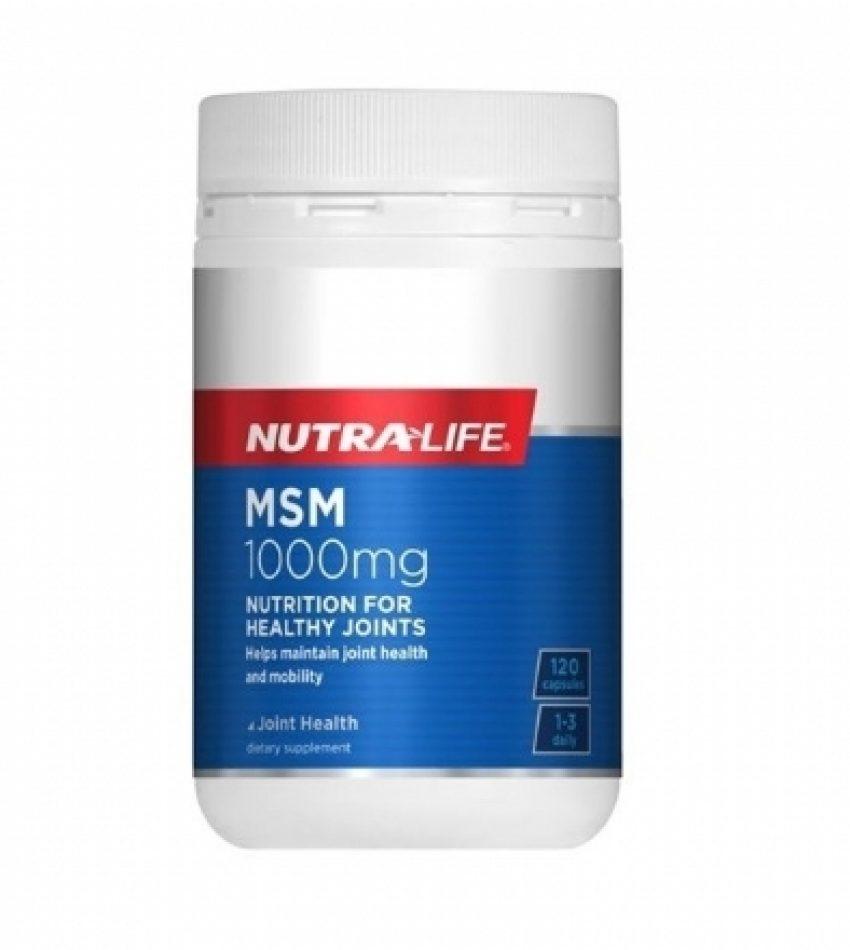 Nutralife纽乐 MSM关节止痛剂 120粒  Nutralife MSM 1000mg 120Cap(21年3月到期)