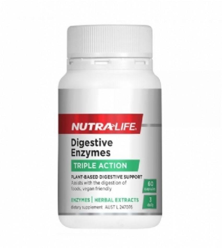 Nutralife纽乐 消化酶 植物酶 酵素60粒 Nutralife Digestive Enzymes 60Caps