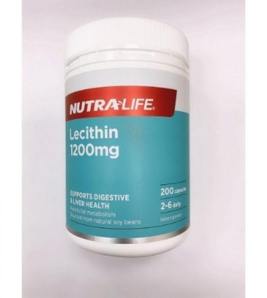 Nutralife纽乐 大豆卵磷脂1200mg 200粒 Nutralife Lecithin 1200mg 200Cap(23年到期)
