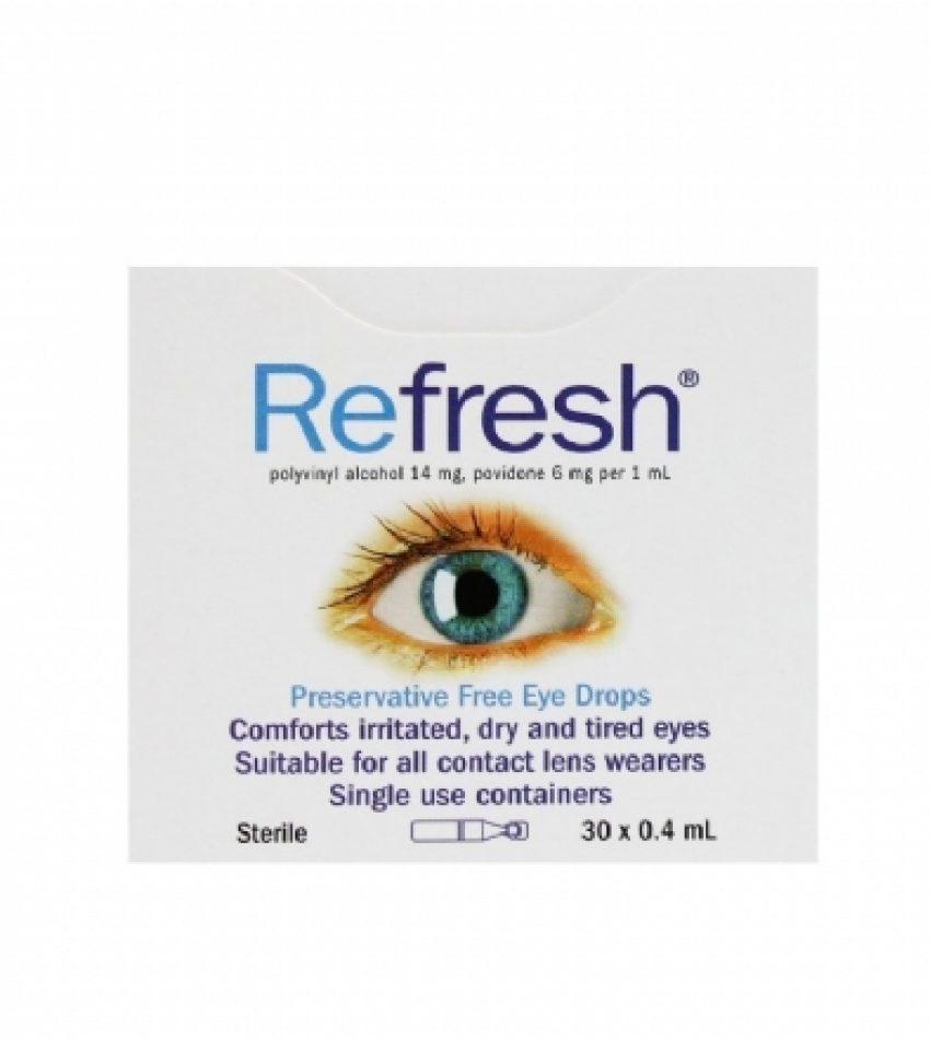 Refresh 抗疲劳 无防腐剂眼药水 滴眼液 30支 Refresh Preservative Free Eye Drops 30Tubes(22年初到期)