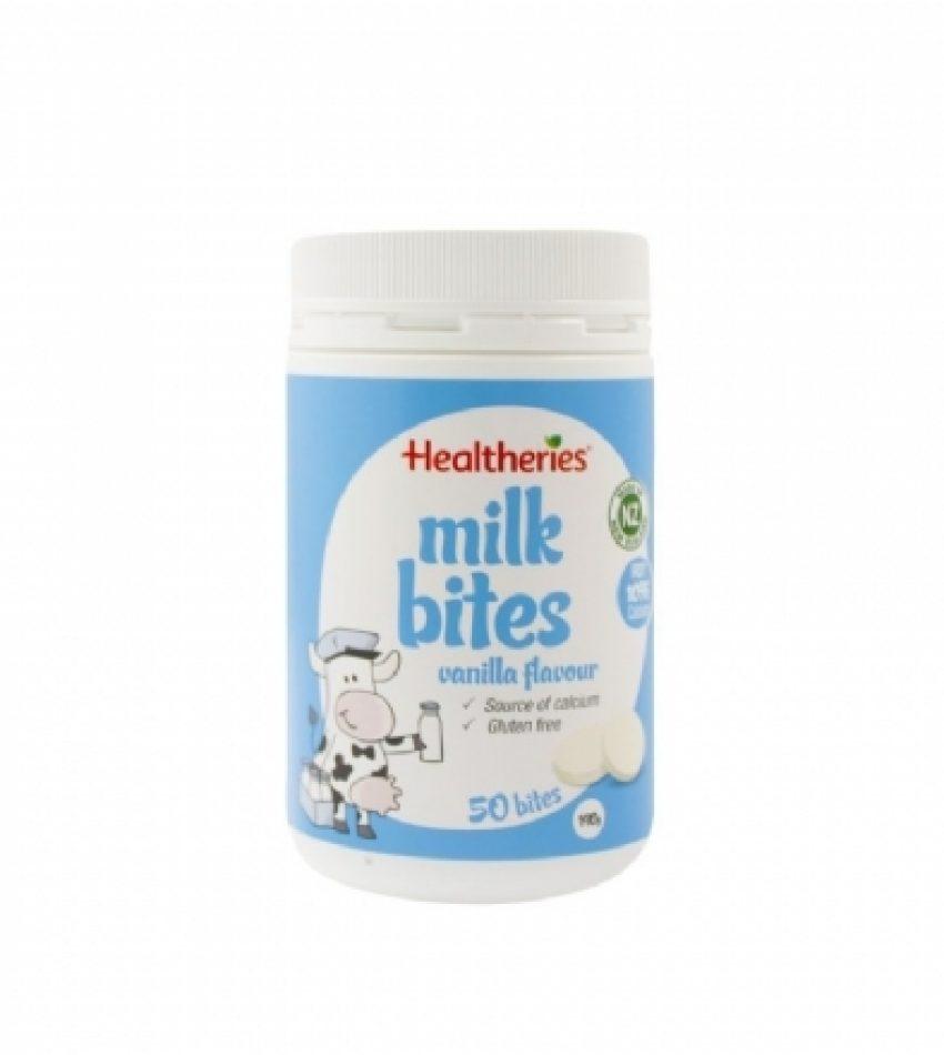 Healtheries贺寿利 儿童牛奶片 香草味 50片 Healtheries Milk Bites Vanilla Flavour 50 bites (22年到期)