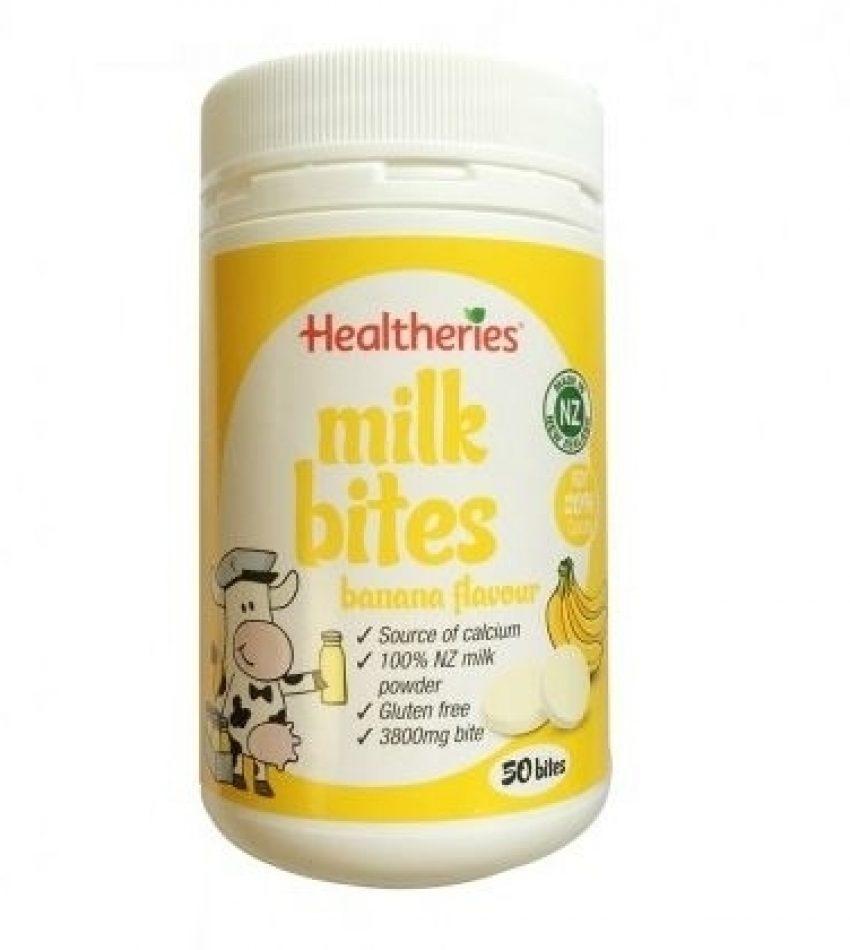 Healtheries贺寿利 儿童牛奶片 香蕉味 50片 Healtheries Milk Bites Banana Flavour 50 bites(22年中到期)