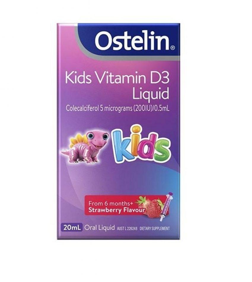 Ostelin 奥斯特林 儿童vd滴剂 20ml 液体维生素D Ostelin Vitamin D Liquid for Kids 20ml, (新包装)
