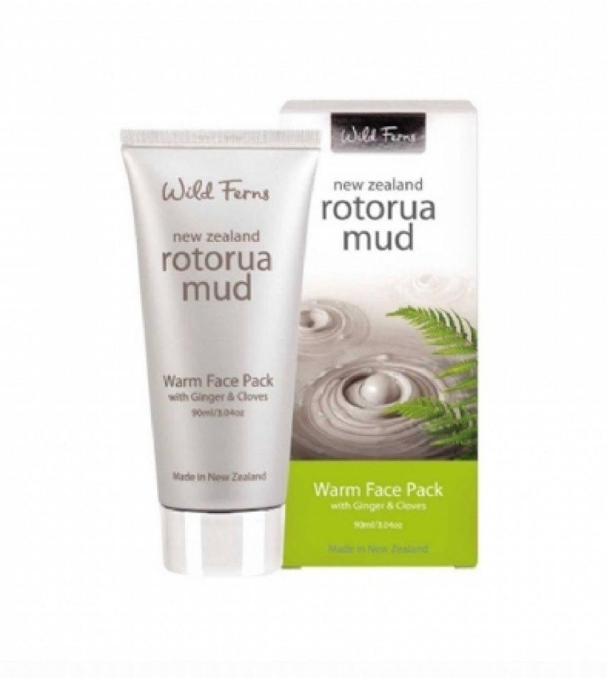 Wild Ferns Parrs帕氏 火山泥发热面膜 含生姜丁香精华 90ml  Parrs Wild Ferns Rotorua Mud Warm Face Pack with Ginger&Cloves 90ml