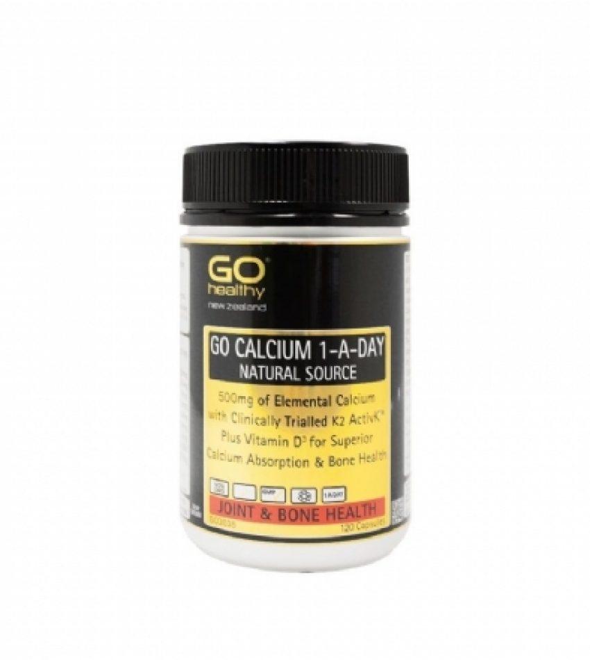 Go Healthy高之源 天然有机钙片 120粒 Go Healthy Calcium 1-A-Day 120Cap(22年底到期)