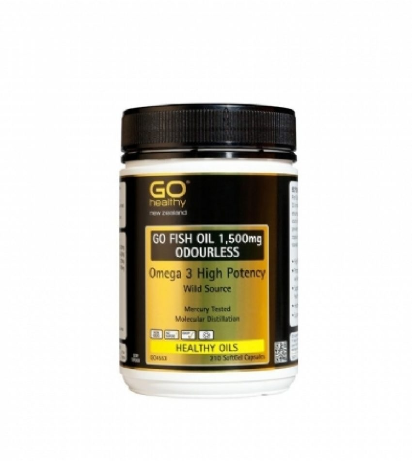 Go Healthy高之源 Omega-3 深海 鱼油 1500mg 210粒 Go Healthy Omega 3 Fish Oil 1500mg 210Cap(22年9月到期)
