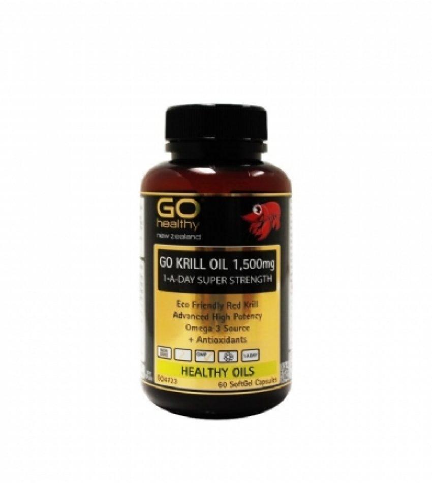 Go Healthy高之源 南极磷虾油胶囊 1500mg 60粒 Go Healthy Krill Oil 1500mg  60Cap(23年到期)