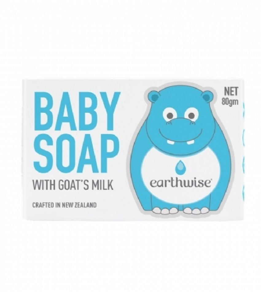 Earthwise河马宝宝 儿童香皂 80g 新装上市 Eatthwise Soap Goats Milk 80g
