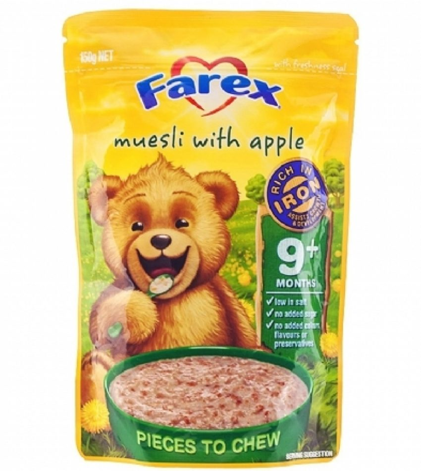Farex 苹果味高铁9+婴儿米粉 150g Farex Musesli With Apple 9+ 150g