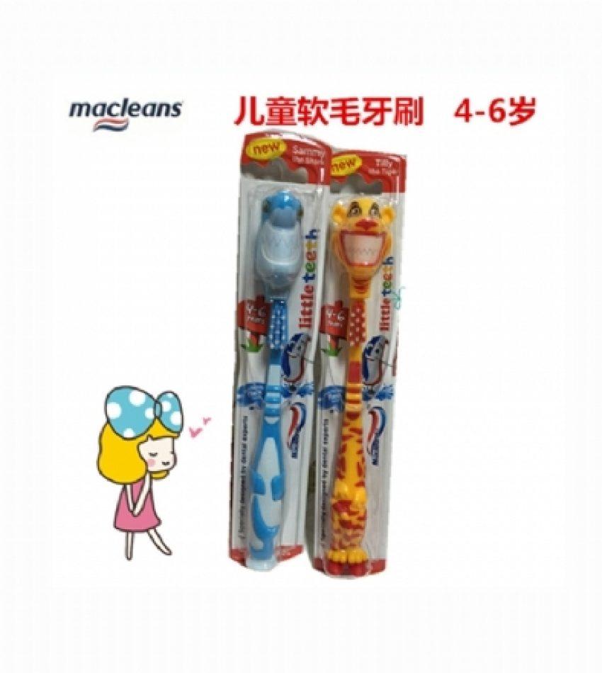 Macleans 4-6岁 婴幼儿 中童软毛牙刷1支                                              Macleans Soft Bristles (4-6 years)