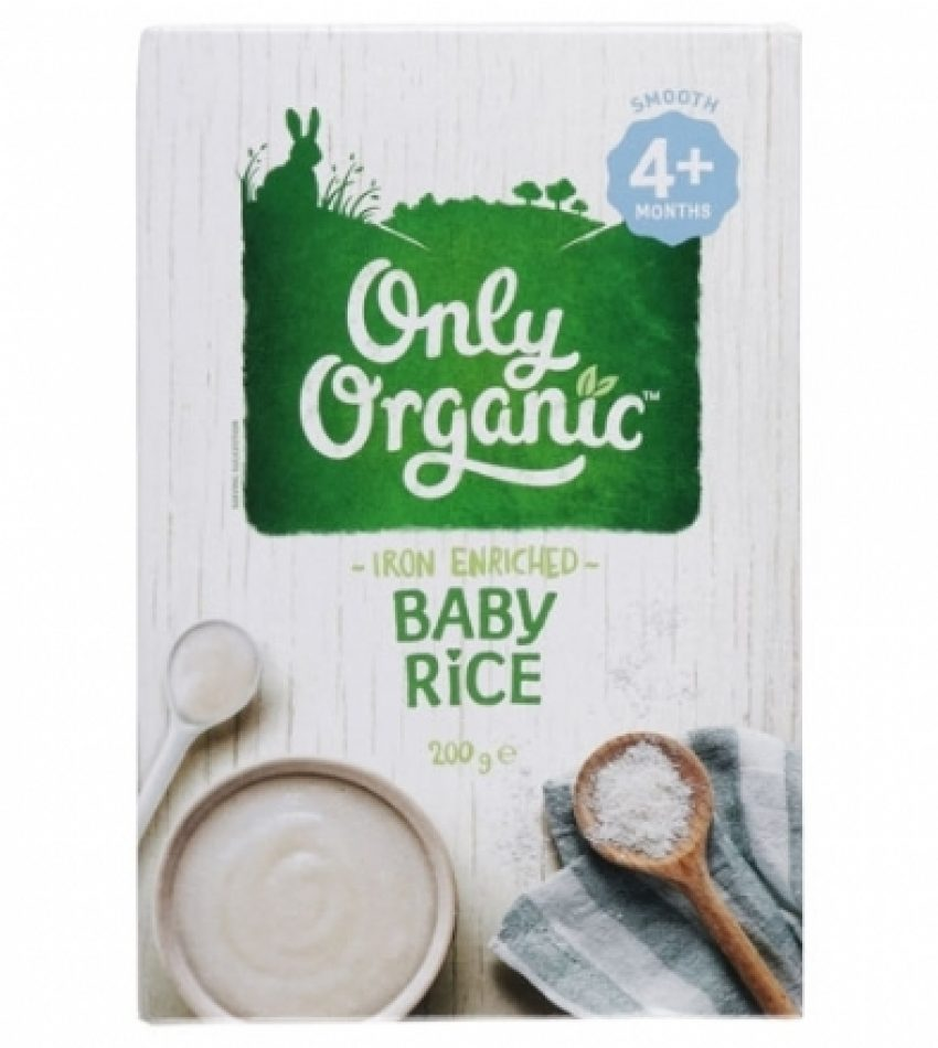 ONLY ORGANAIC 含铁儿童米糊 米粉 200g 4+(4月以上)ONLY ORGANAIC IRON ENRICHED BABY RICE 4+ 200G