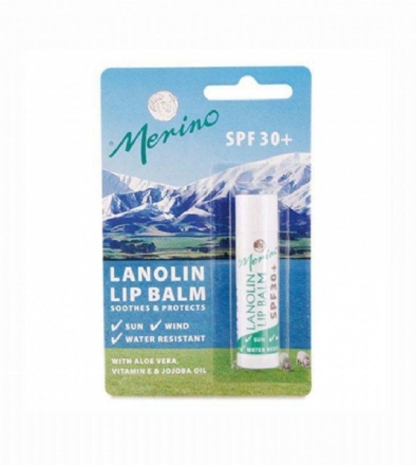 Merino美丽诺 SPF30+ 绵羊油防晒护唇膏4.5g                                                                      Merino SPF30 Lanolin Lip Balm 4.5g