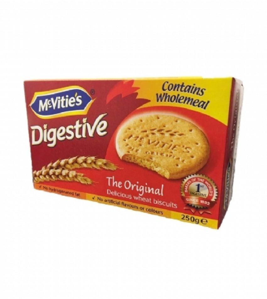 Mcvities 麦维他 牛奶消化饼干 250g MCVITIE'S DIGESTIVE  BISCUITS 250G(原味/牛奶巧克力味/黑巧克力味随机)