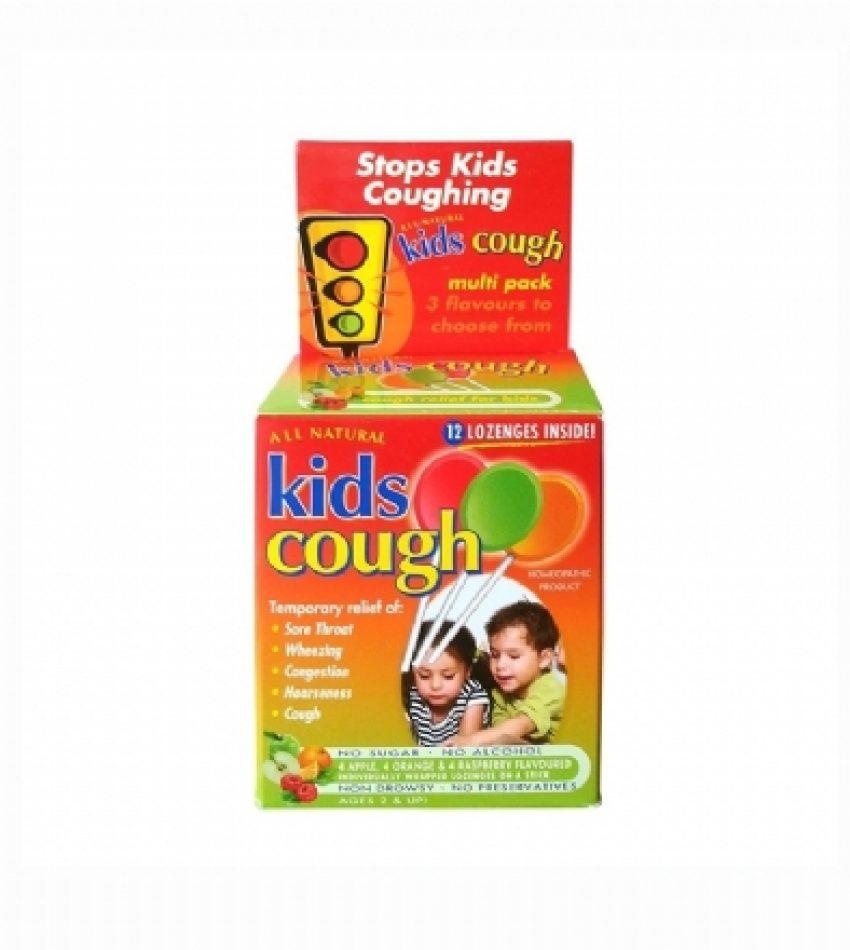 All Natural Kids缓解儿童咳嗽棒棒糖 混合口味 12支 All Natural Kids Cough Multi Pack