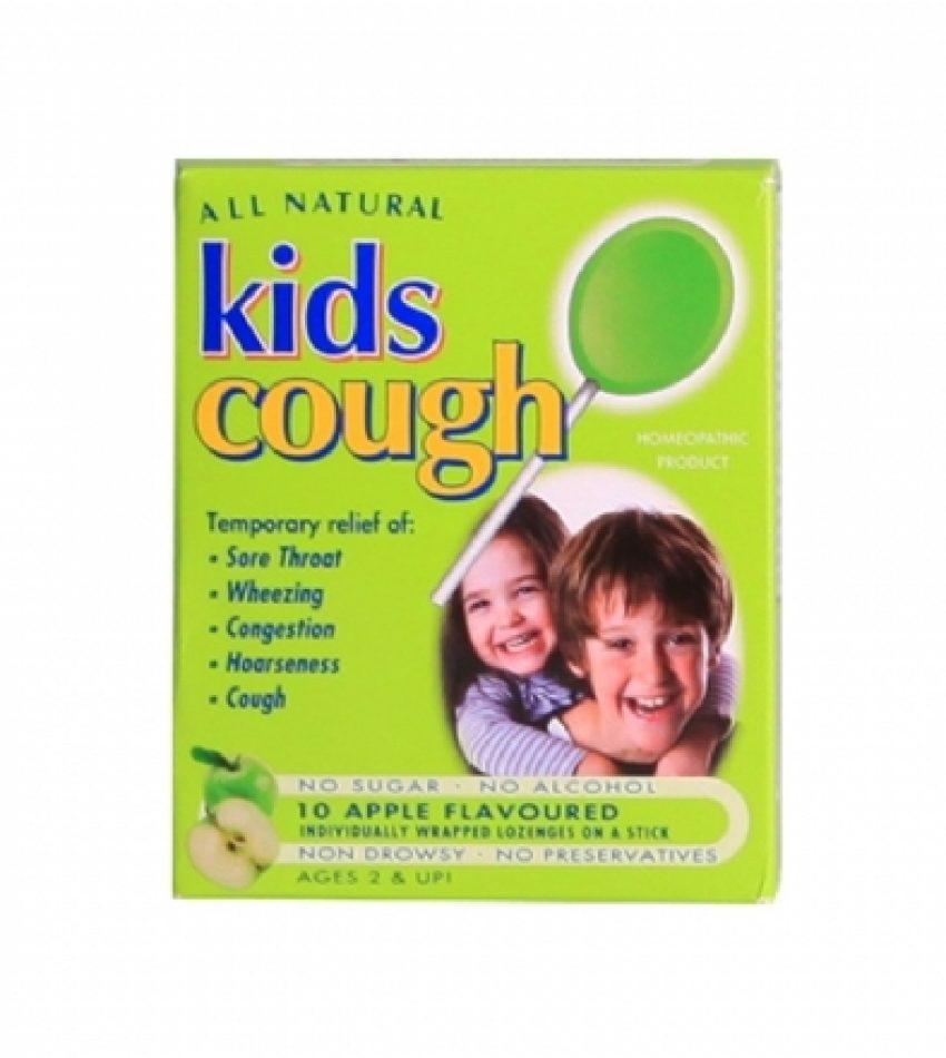 All Natural Kids缓解儿童咳嗽棒棒糖 苹果味 10支装 All Natural Kids Cough Apple Lolipops