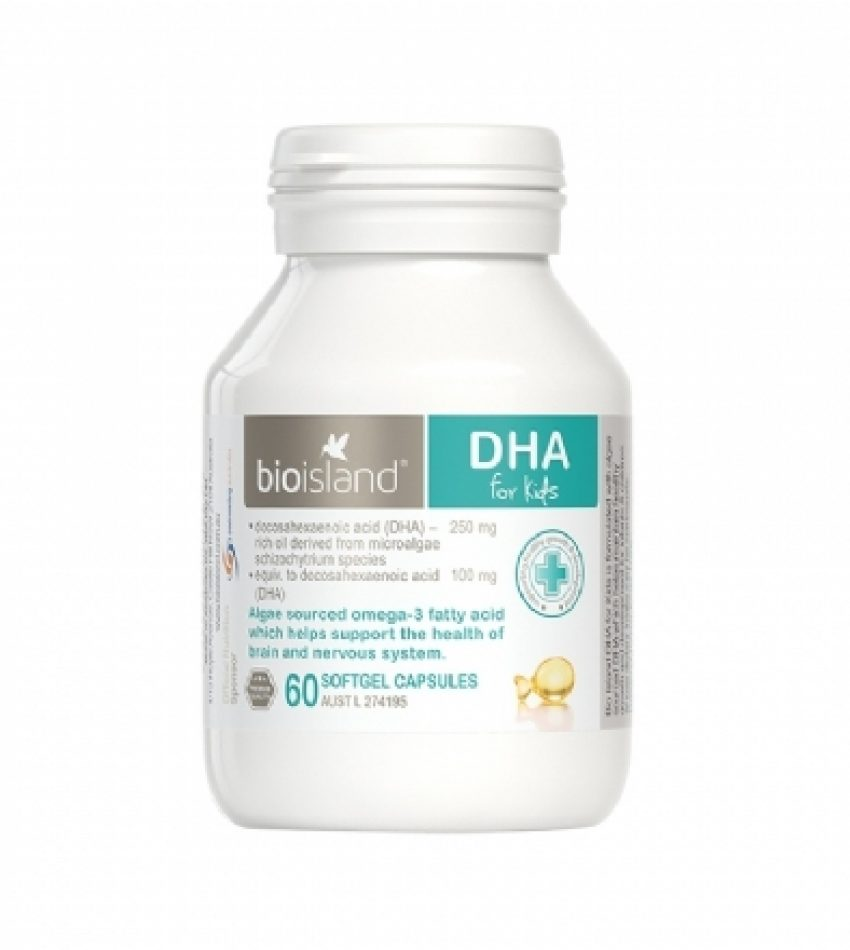 Bioisland 婴幼儿海藻油 DHA 60粒 Bioisland DHA 60Cap