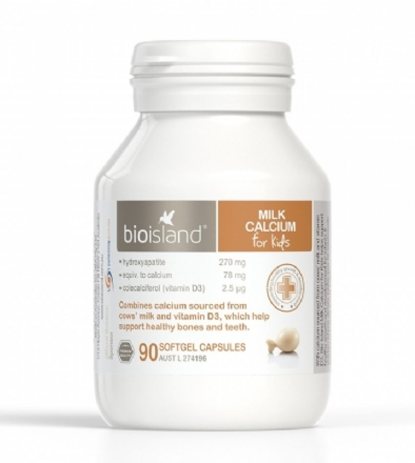 Bioisland 婴幼儿液体乳钙软胶囊 90粒 Bioisland Milk Calcium 90 Cap