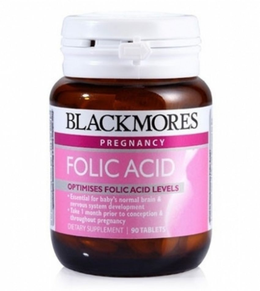Blackmores澳佳宝 天然叶酸片 500mg 90片 Blackmores Folic Acid 90Tabs