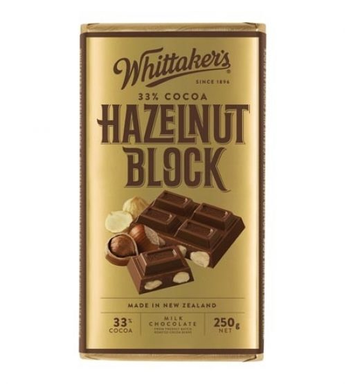 Whittaker's惠特克 榛果夹心巧克力 250g Whittaker s 33% Cocoa Hazel Nut Chocolate 250g