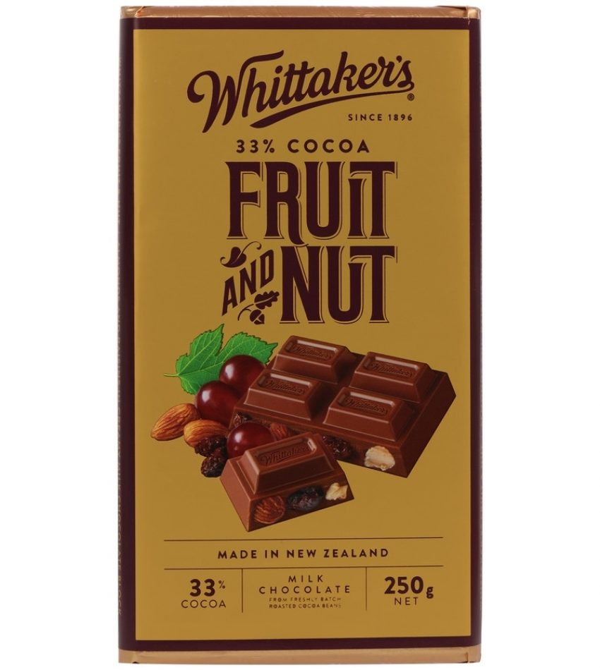 Whittaker's惠特克 水果坚果巧克力 250g Whittaker s 33% Cocoa Fruit & Nut Chocolate 250g