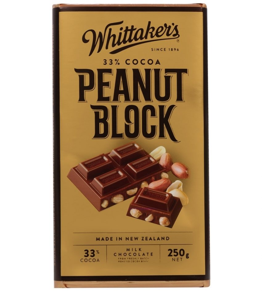 Whittaker's惠特克 花生果仁巧克力 250g Whittaker s 33% Cocoa Peaunt Block Chocolate 250g