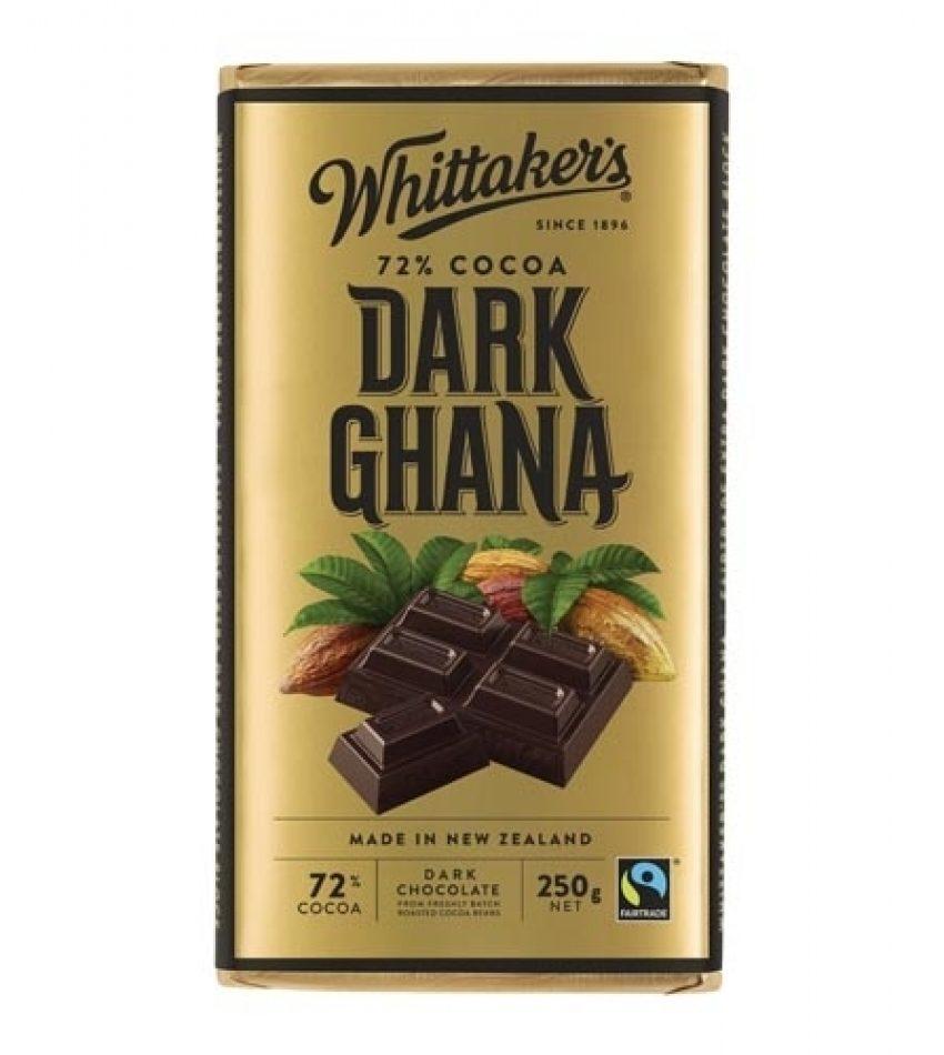 Whitaker's惠特克 加纳果巧克力 250g Whittaker s 72% Cocoa Dark Ghana Chocolate 250g