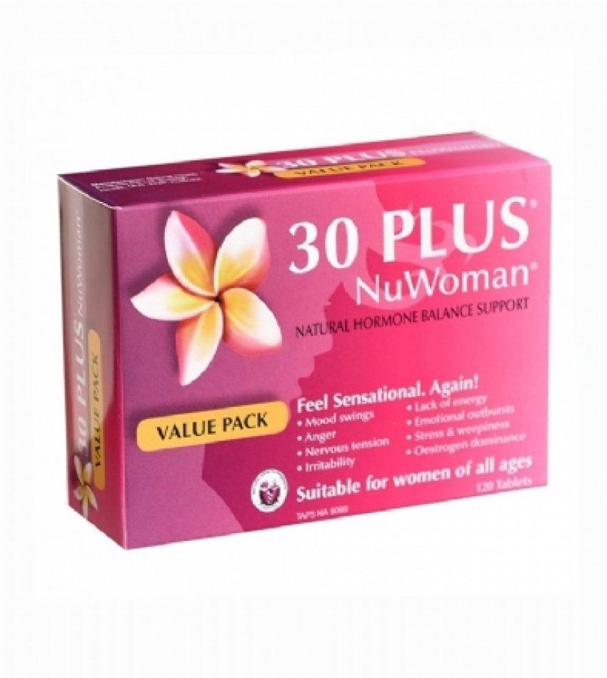 30 plus 女性自然荷尔蒙补充剂 120粒  30 Plus Nuwoman Value Pack 120Tab