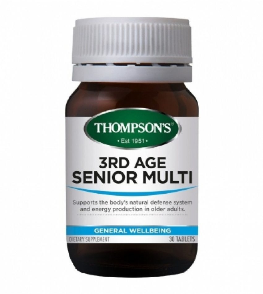 Thompson's汤普森 中老年综合维生素片 30片   Thompson's 3rd Age Senior Multi 30Tab(22年初到期)