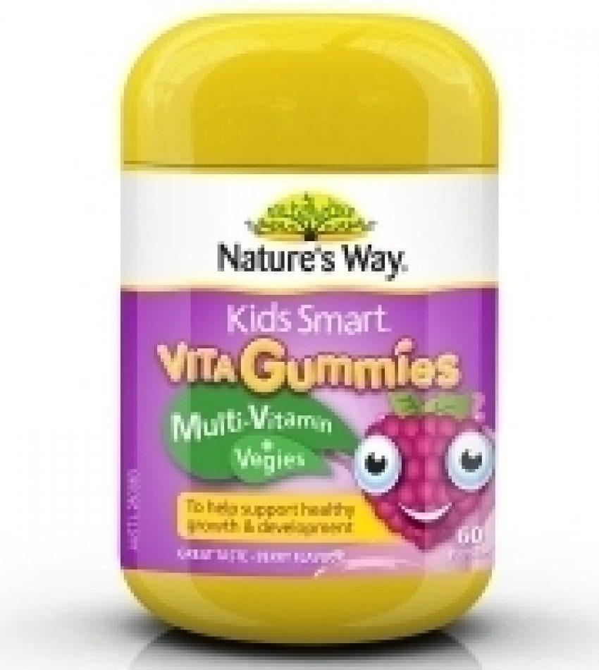Nature's Way佳思敏 复合维生素+蔬菜软糖 浆果味 60粒 Nature's Way Vita Gummies Multi-Vitamin + Vegies 60Pat