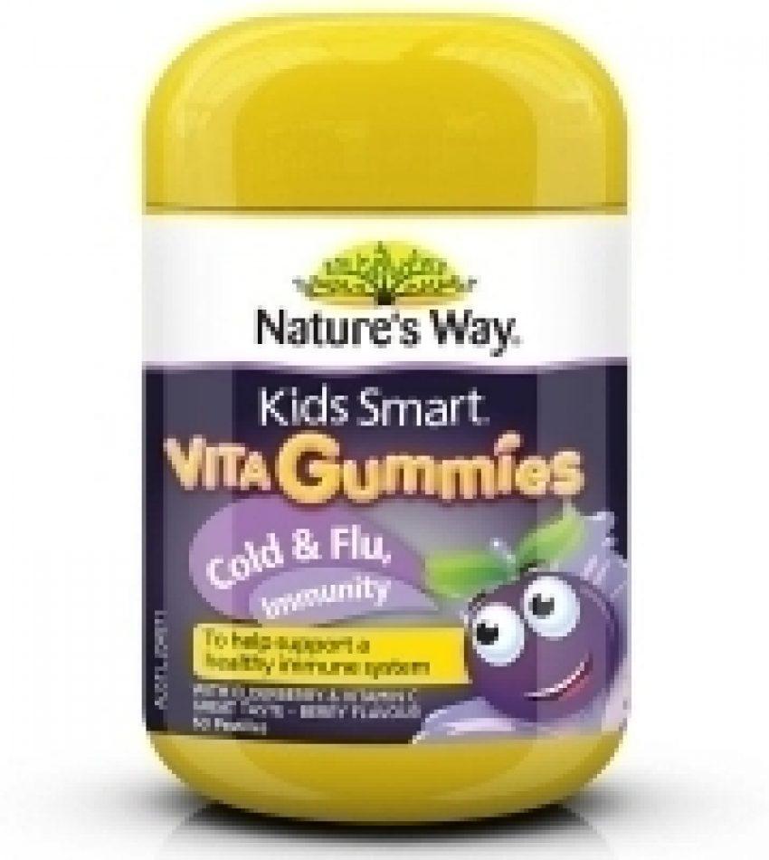 Nature's Way佳思敏 黑接骨木维生素软糖 防流感 60粒 Nature's Way Vita Gummies Cold & Flu Immunity 60Pat(22年6月到期)