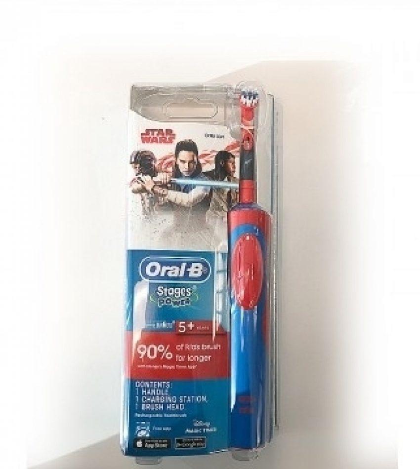 Oral-B 博朗欧乐B 充电式儿童电动牙刷 儿童牙刷 5岁+ 星球大战款/冰雪奇缘款 Oral-B Stage Power Disney 5+