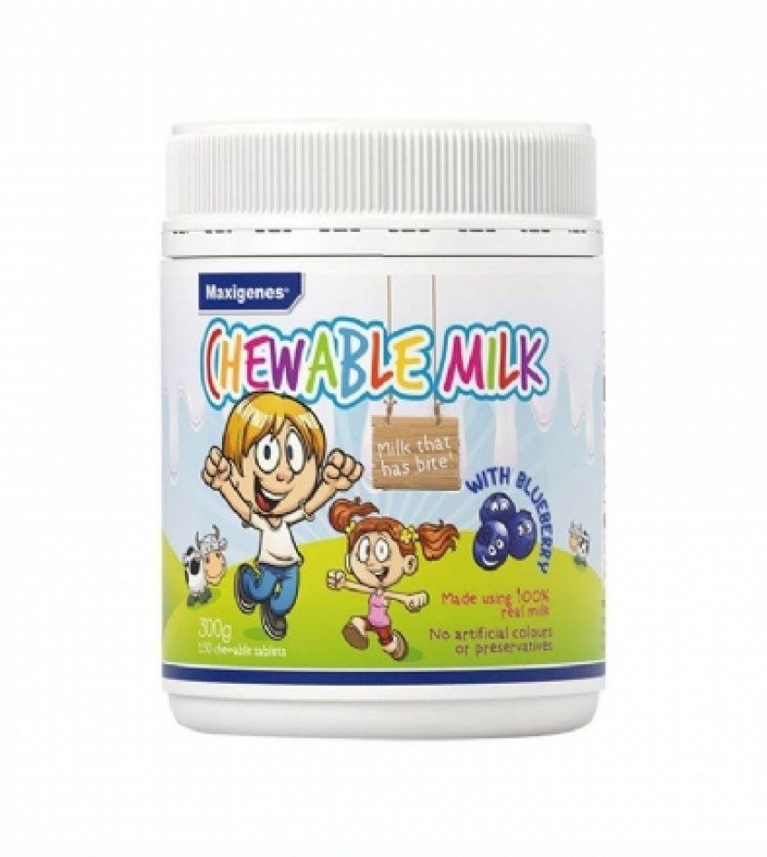 Maxigenes美可卓 蓝莓护眼片 牛奶咀嚼片 300g Maxigenes Chewable Milk With Blueberry 300g