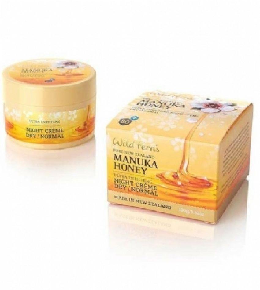 Wild Ferns Parrs帕氏 麦卢卡蜂蜜 深层滋养晚霜 干性/中性肤质 100g Wild Ferns Parrs Manuka Honey Ultra Enriching Night Crème 100g