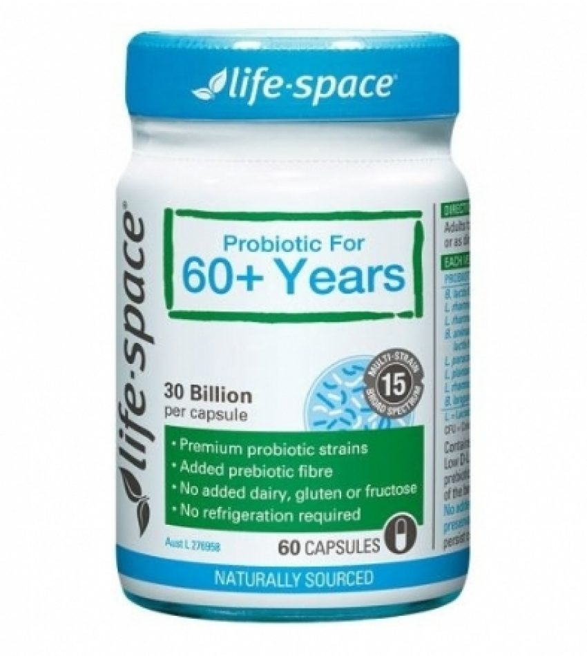 Life Space 老人益生菌 60粒  Life Space Probiotic For 60+ Years 60 Caps(23年初到期)