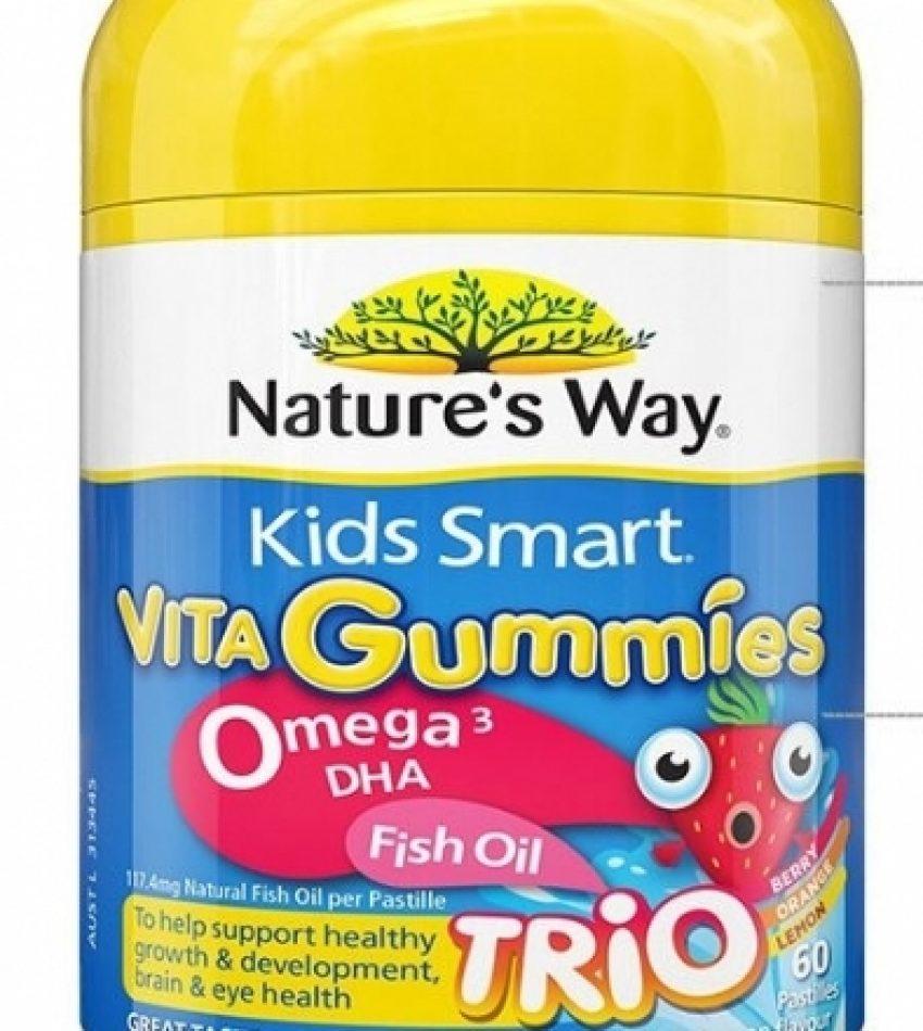 Nature's Way佳思敏 Omega3+鱼油 软糖 60粒  Nature's Way Kid Smart Vita Gummies Omega-3 Fish Oil 60Pas