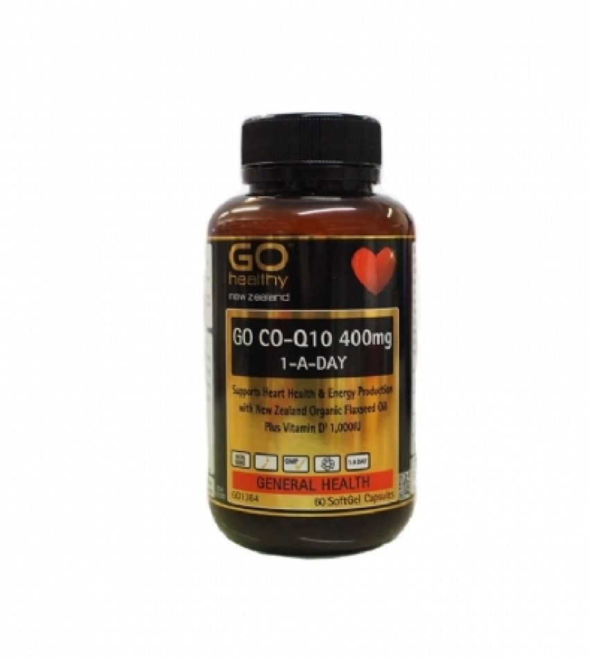 Go Healthy高之源 Co-Q10 心脏辅酶胶囊 400mg  60粒  GO HEALTHY GO CO-Q10 400MG 1-A-DAY 60c (23年初到期)