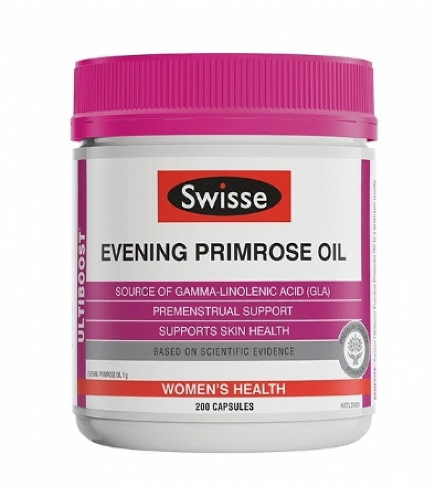 Swisse 月见草油软胶囊200粒 SWISSE EVENING PRIMROSE OIL 200 CAP(21年8月到期)