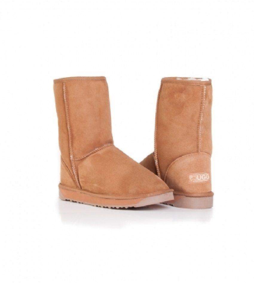 (清仓特价包邮包税)EVER AUSTRALIA 中筒经典雪地靴 栗色 40码 EVER AUSTRALIA CLASSICAL CHESTNUT 40