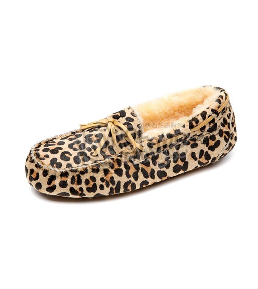 (清仓特价包邮包税)EVER UGG AUSTRALIA 动物纹豆豆鞋 豹纹 春款(无毛内衬)36码 EVER AUSTRALIA  LEOPARD SIZE 36