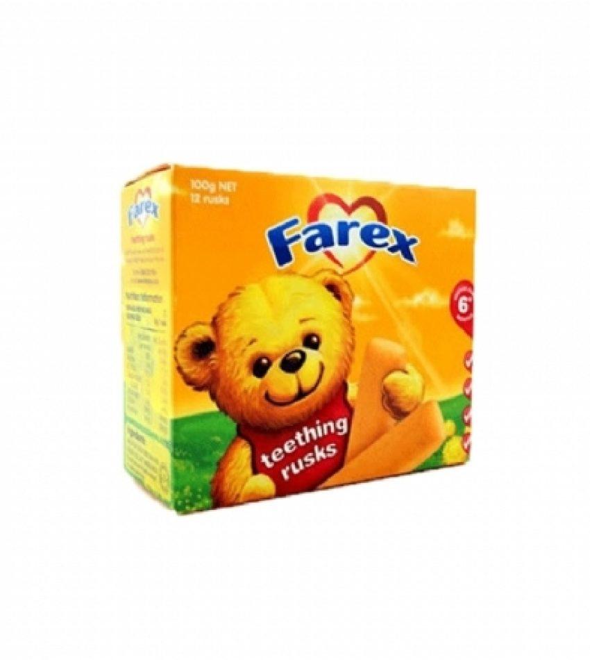 Farex 婴儿磨牙棒6个月以上 100g  Farex Teething Rusks 100g