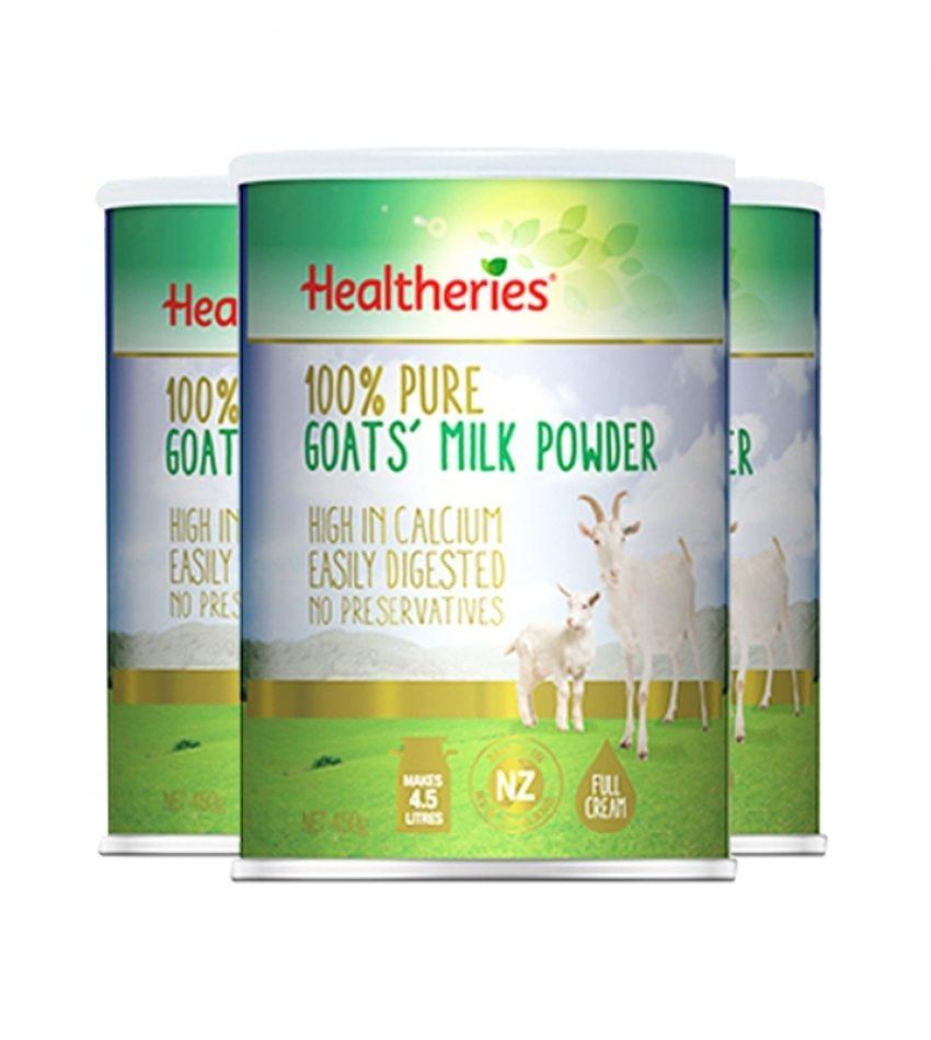 【包邮】Healtheries贺寿利 山羊奶粉 450g  HEALTHERIER'S GOAT MILK POWDER 450G 3罐/6罐 可选(23年12月到期)